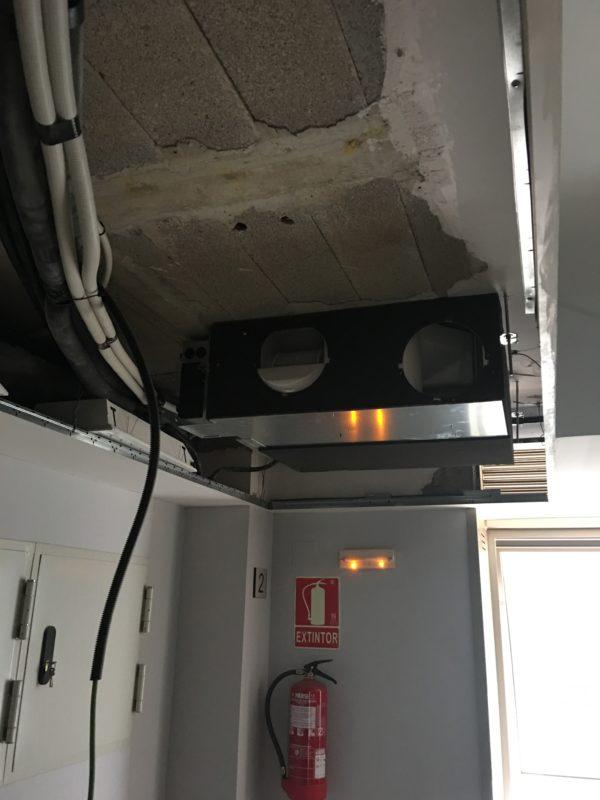Instalación del sistema de climatización y adecuación de instalaciones PCI, electricidad y fontanería